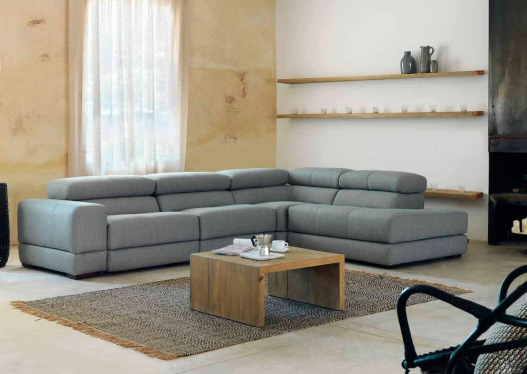 Salón moderno, tapizado de sofá