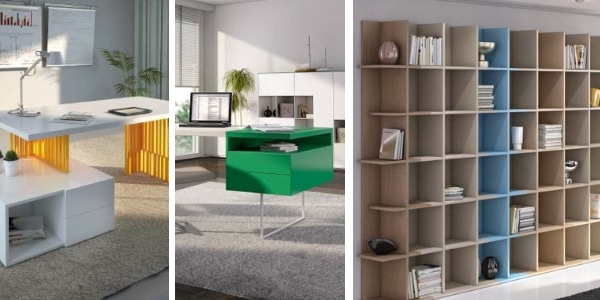 muebles de oficina de colores