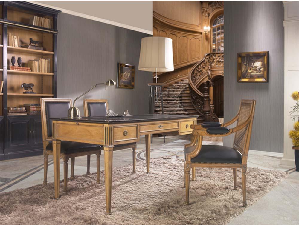 escritorio con libreria