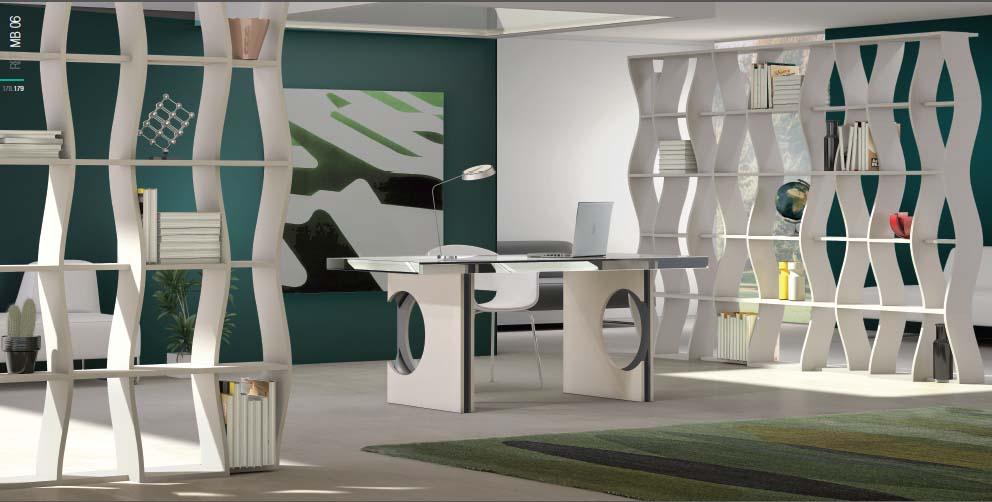 oficina blanca moderna
