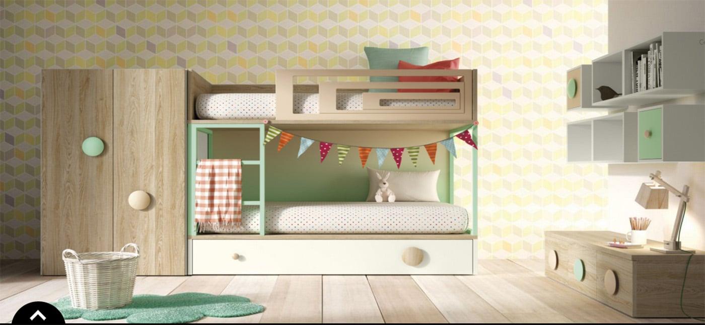 habitacion niño estilo moderno
