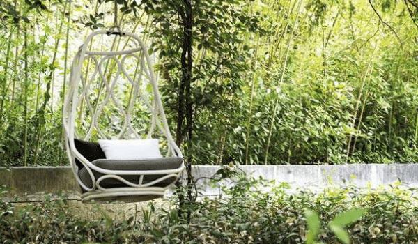 sillon colgante jardín
