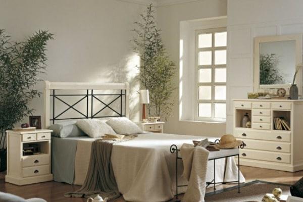 dormitorio para adultos con colores negro y crema