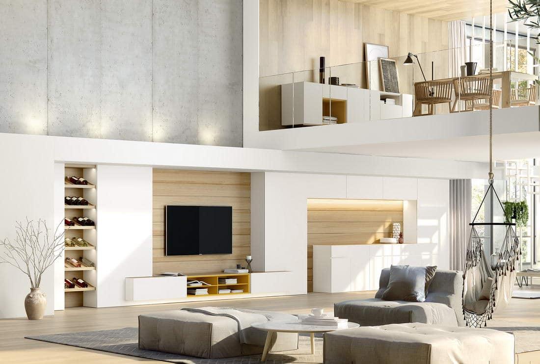 Muebles de sal n de dise o en zaragoza r stica ambientes for Muebles salon diseno