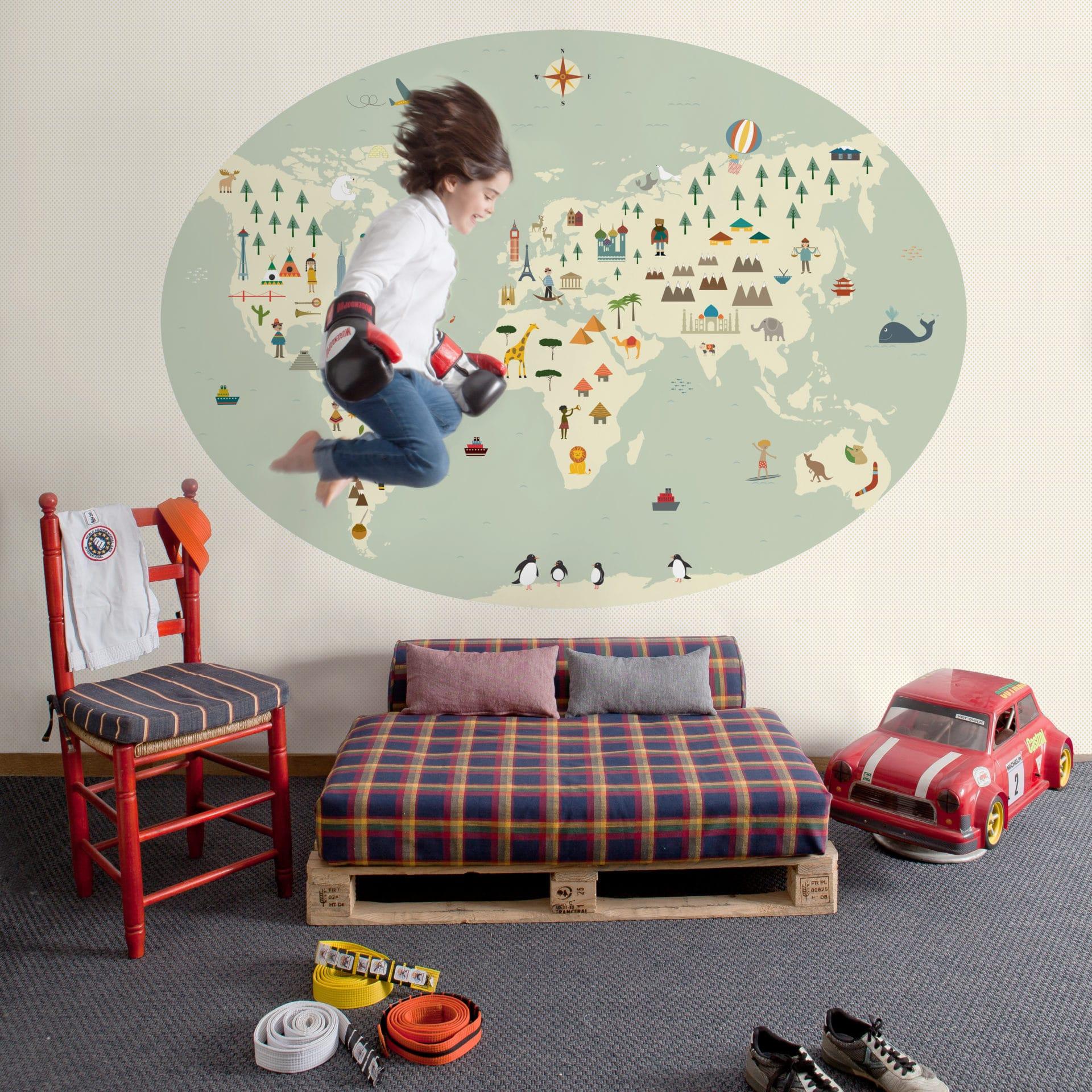 Papel Pintado Infantil En Zaragoza R Stica Ambientes ~ Papel Pintado Para Dormitorio Juvenil